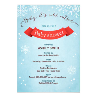 Baby Shower invite Baby it's cold outside Boy Girl