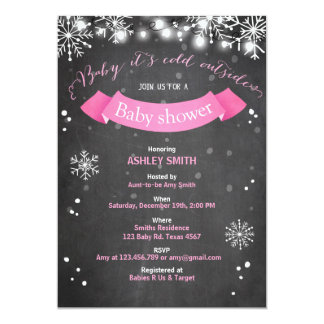 Baby Shower invite Baby it's cold outside Girl