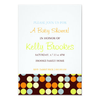 Baby Shower Invite | Dots |wor