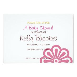 Baby Shower Invite | Flowered |pink