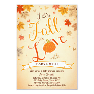 Baby Shower invite Little Pumpkin Fall in Love