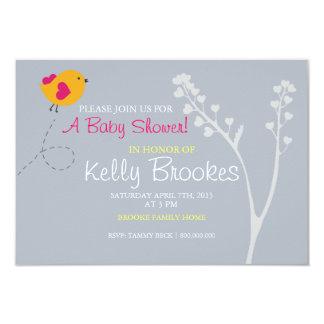Baby Shower Invite | Love's Bird |blue