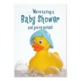 BABY SHOWER INVITE - RUBBER DUCKY