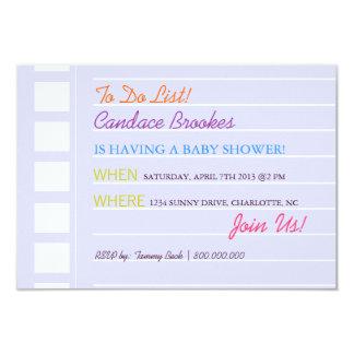 Baby Shower Invite | To Do |blu