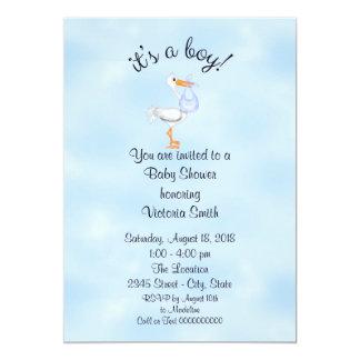 Baby Shower It's a Boy Baby Boy Stork Card