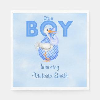 Baby Shower It's a Boy Baby Boy Stork Napkin