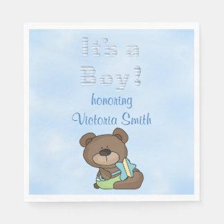 Baby Shower It's a Boy Baby Boy Teddy Bear Napkin