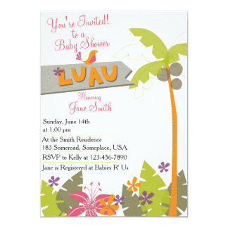 Baby Shower Luau Card