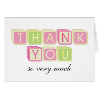 Baby Shower Matching Baby Girl Thank You Note Card