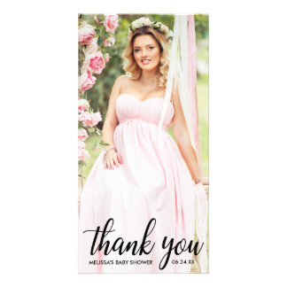Baby Shower Modern Thank You Photo Card L