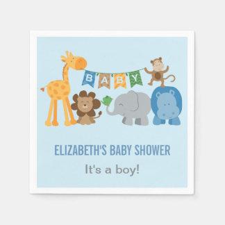 Baby Shower Napkins | Jungle Animals Disposable Napkins