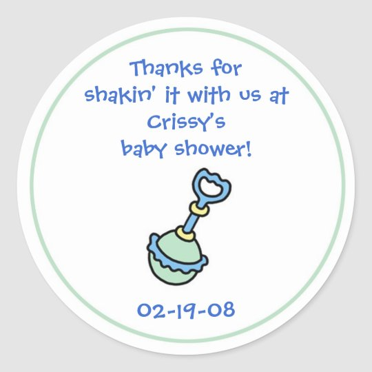 Baby Shower Party Favour Sticker