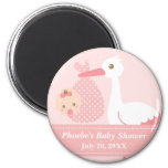 Baby Shower Party Favour - Stork Delivers Baby 2 Inch Round Magnet