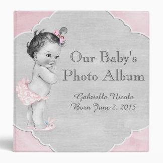 Baby Shower Pastel Pink Vintage Little Girl Vinyl Binders