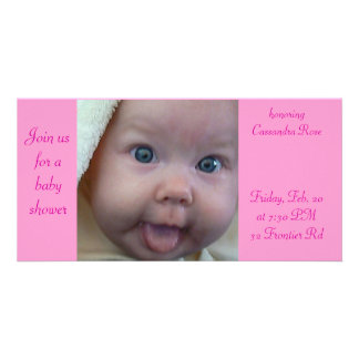 Baby Shower Photo Card Template