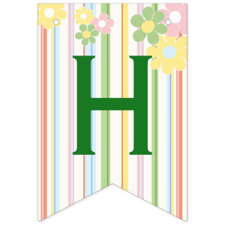 "Baby Shower ""Picnic Floral"" Swallowtail Banner"