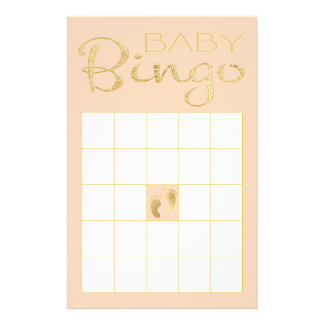 "Baby Shower Pink BINGO ""Gold/Pink Classic"" Flyer"