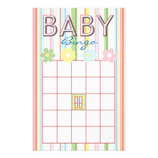 "Baby Shower Pink BINGO ""Picnic Floral"" Flyer"