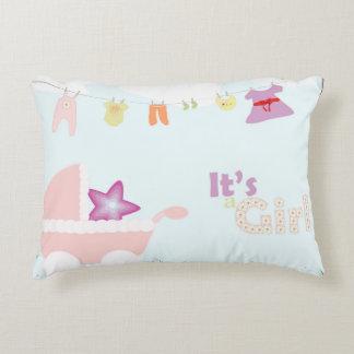 Baby shower - pink stroller, pillows