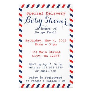 Baby Shower Postal Service Stationery