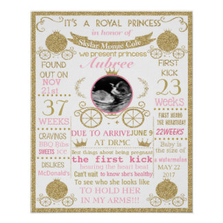 Baby Shower Princess girl poster sign banner