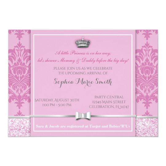 Baby Shower Princess Invitation