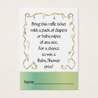 Baby Shower Raffle Ticket/Glittery Castle Business Card