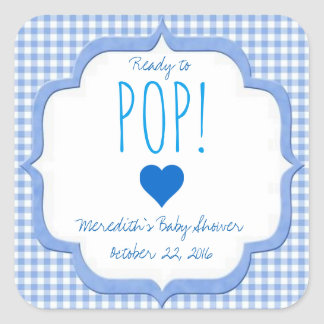 Baby Shower Ready To Pop Stickers for Boy
