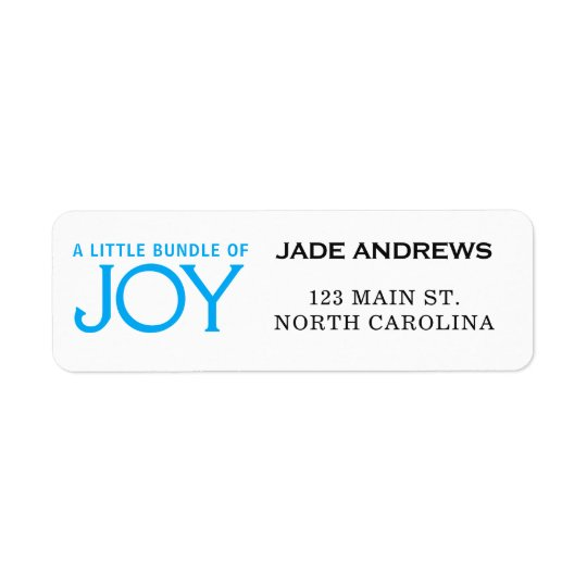 Baby Shower Return Address Label