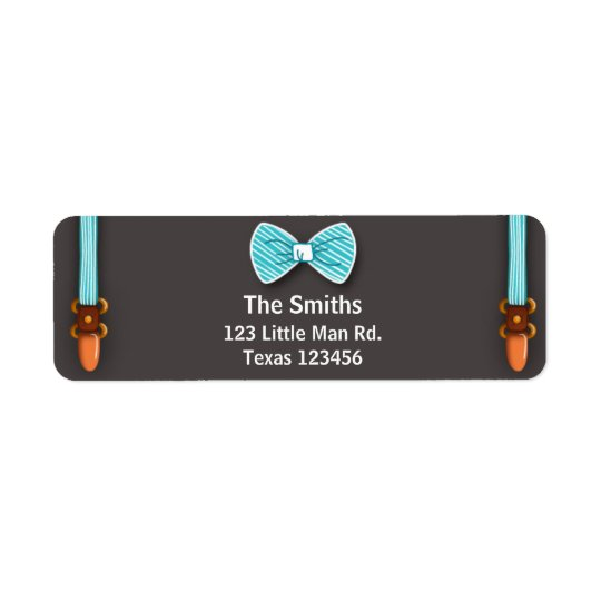 Baby Shower Return Address Label Little Man