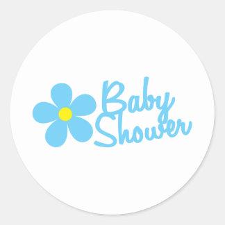 baby shower round sticker