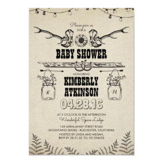 baby shower rustique de pays de bottes de cowboy carton d 39 invitation