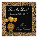 Baby Shower Save the Date Cheetah Print Personalized Invitations