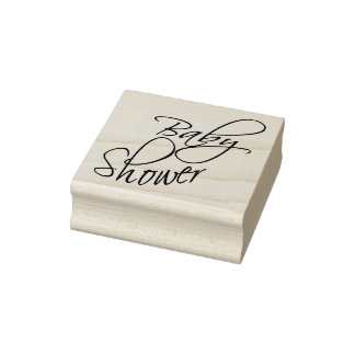 Baby Shower - Script Rubber Stamp