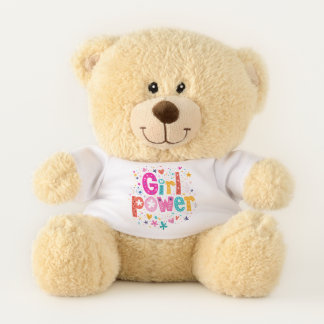 Baby Shower Snuggle Girl Power Teddy Bear