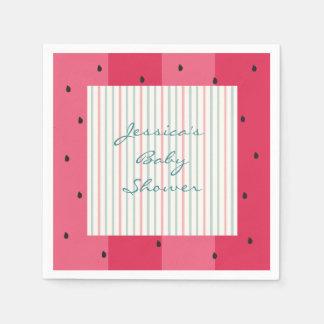 Baby Shower Standard Napkins/Watermelon Umbrella Paper Napkin