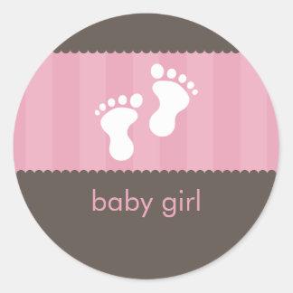 BABY SHOWER STICKER :: happy feet 1