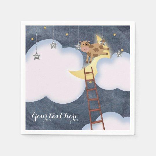 Baby Shower Storybook Nursery Rhyme Custom Party Paper Napkins