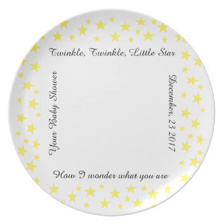 Baby Shower-Surprise, Twinkle Plate