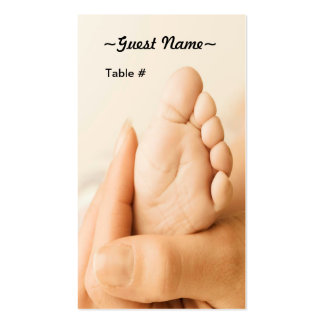 Baby Shower Table Place Card Business Card Template