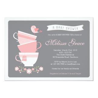 baby shower tea invitation / high tea baby shower