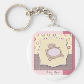 Baby Shower Teddy Bear Keychain