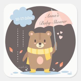 Baby Shower Teddy Bear Sticker
