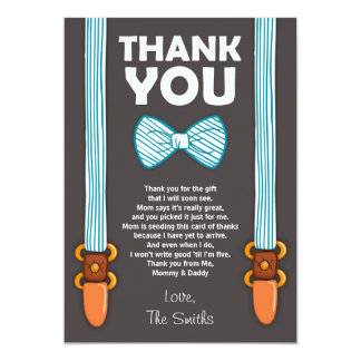 Baby Shower Thank You Card Little Man