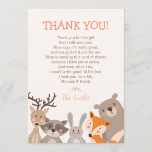 Baby Shower Thank You Cards Zazzle Ca