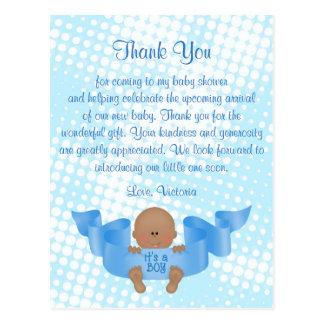 Baby Shower Thank You It's a Boy Baby Boy Postcard