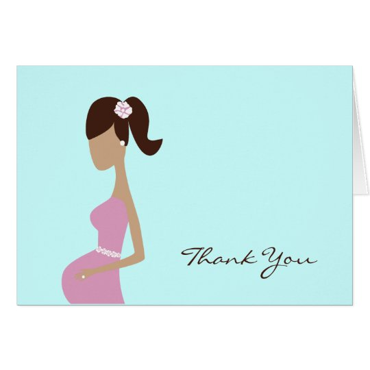 Baby Shower Thank You Note Card