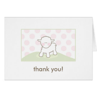 Baby Shower Thank You - Pink & Green Card