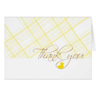 Baby Shower Thank You - Rubber Ducky Card