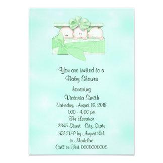 Baby Shower Triplets Baby Gender Neutral Card